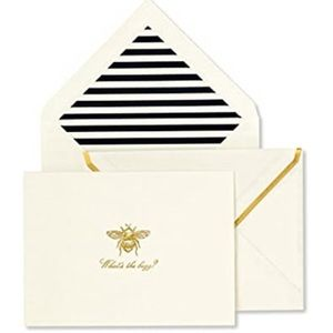 NIB Kate Spade What's the Buzz notecard set